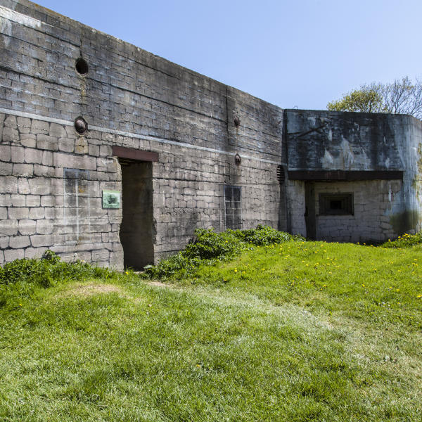 Normandy bunker Azeville painted